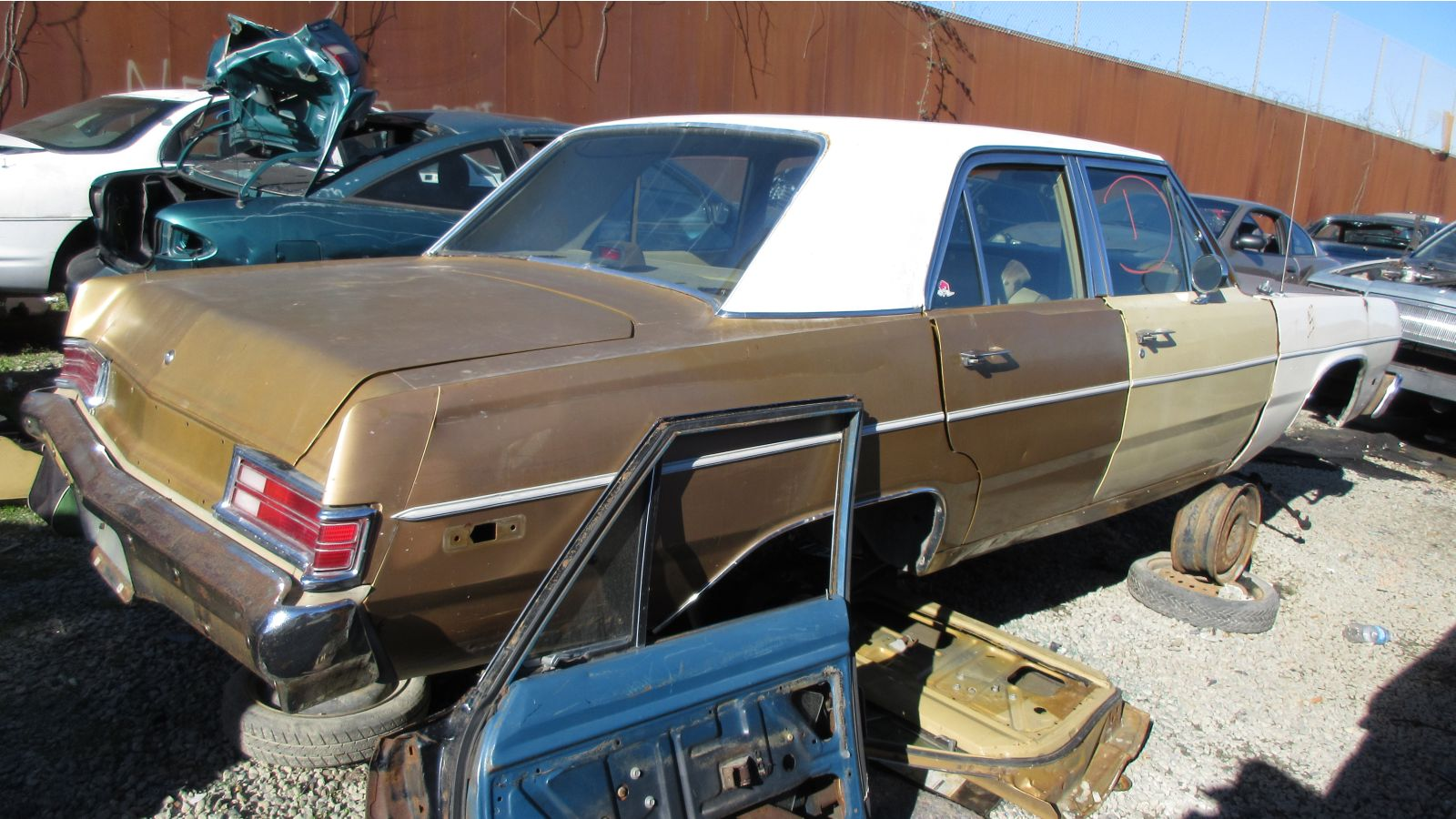 1975 Plymouth Valiant Sedan Junkyard Gem Autoblog 1960 For Sale The Multicolored Front Body Parts Indicate That This Car Got Crashed Then Fixed With You Can Get Fairly Solid Running Sedans And