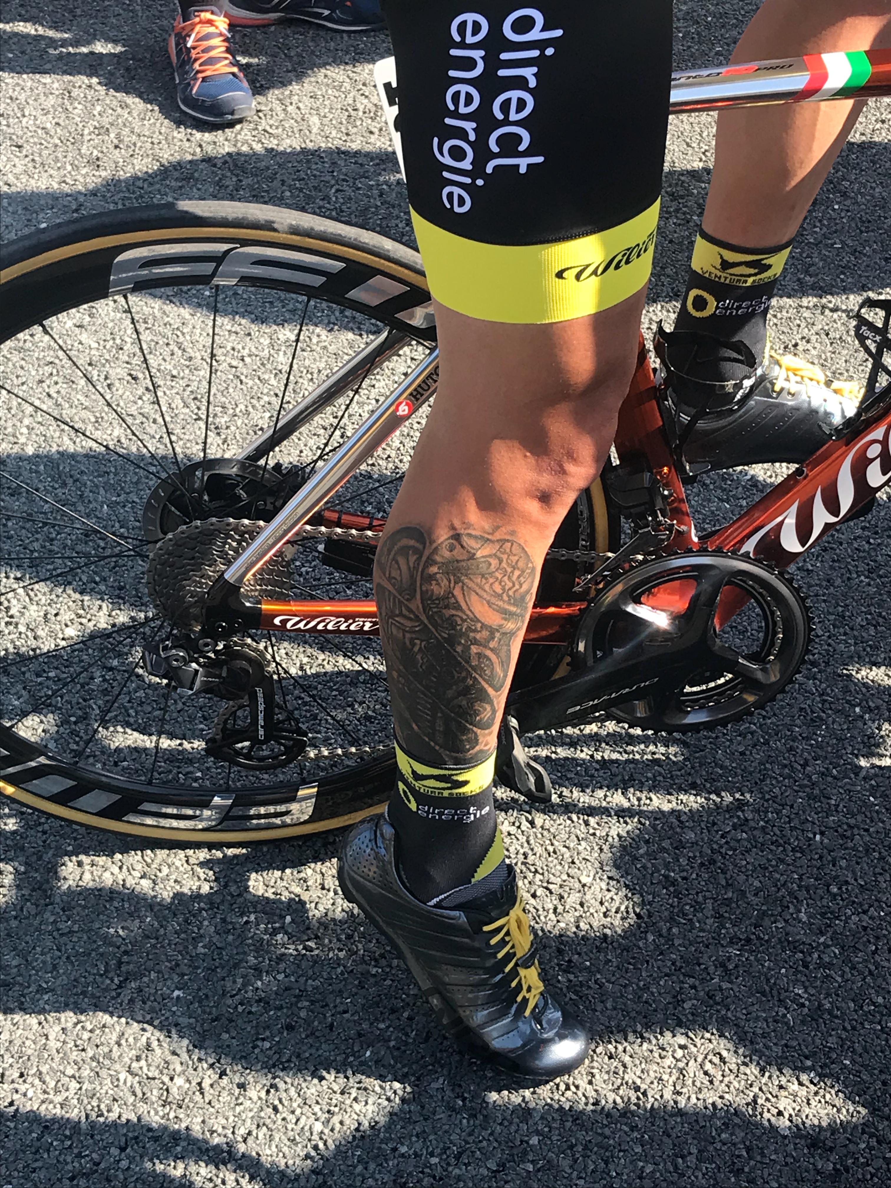 Le vélo de Sylvain Chavanel pour son dernier Tour est équipé de freins à