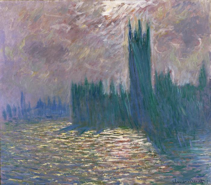 MMT 155332 Parliament, Reflections on the Thames, 1905 (oil on canvas) Monet, Claude (1840-1926) MUSEE...
