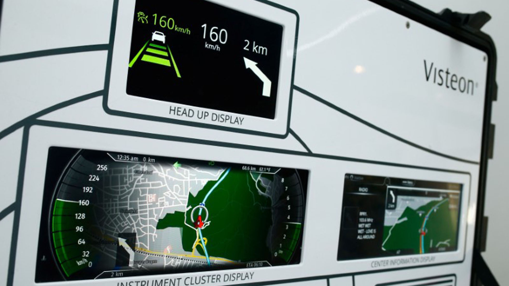 A 'SmartCore' dashboard is seen at the technical center of U.S. automotive supplier Visteon in Karlsruhe, Germany June 23, 2017. Picture taken June 23, 2017.  REUTERS/Ralph Orlowski