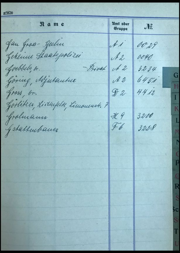 Hitler's address book up for auction