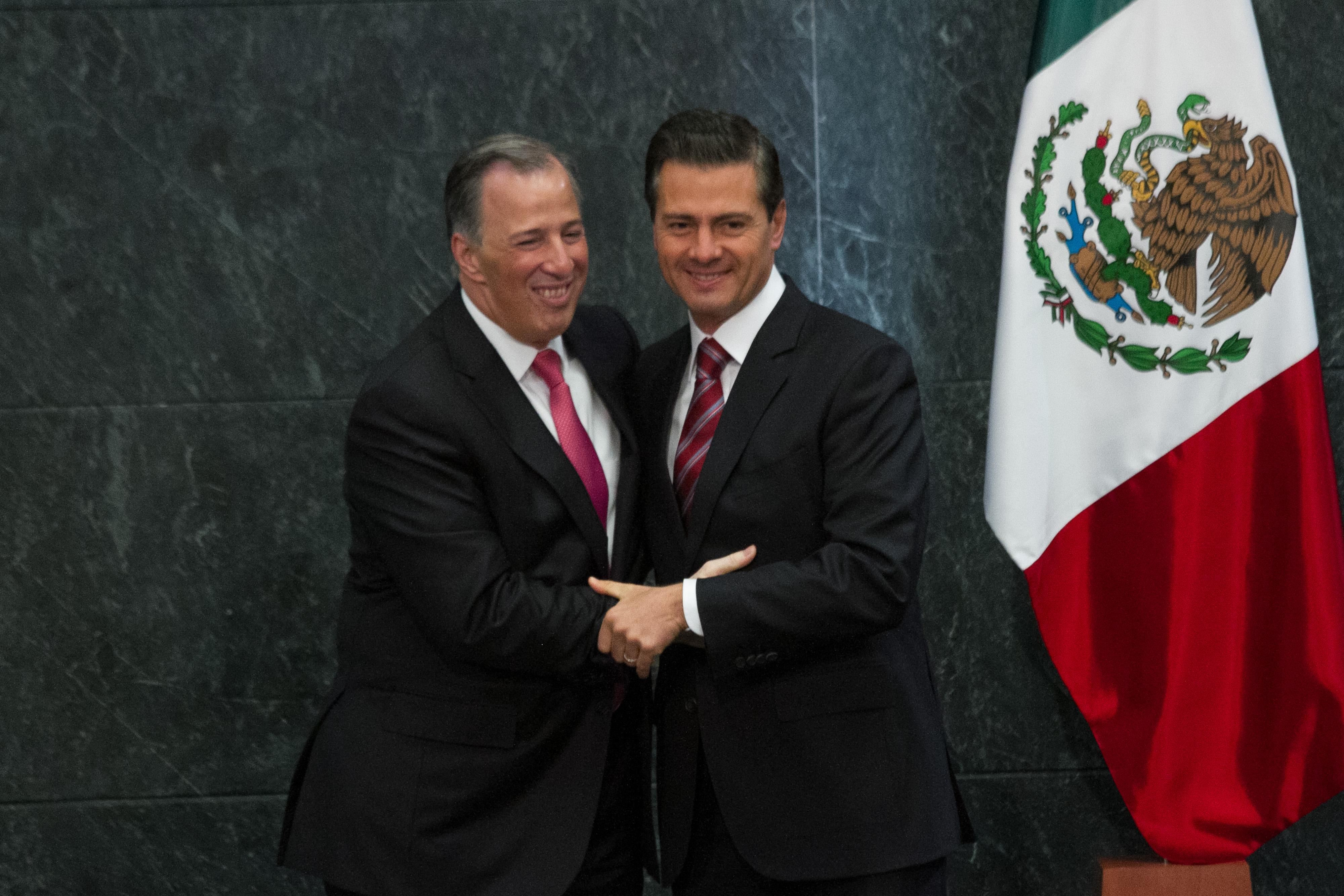 José Antonio Meade y Enrique Peña Nieto, el 27 de noviembre de 2017 en Los