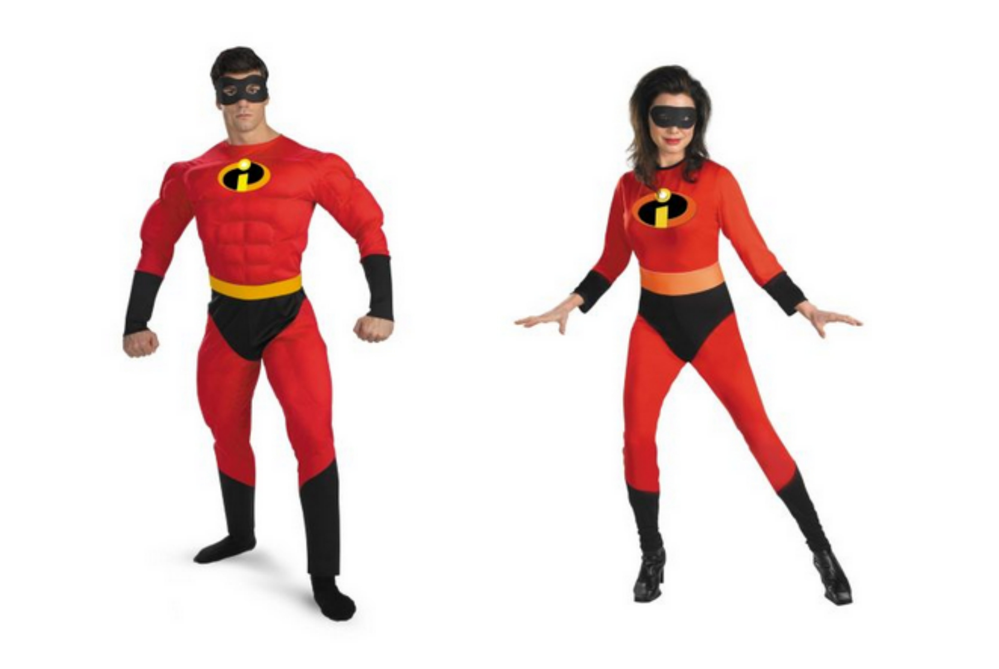 Mr. and Mrs. Incredible from The Incredibles movie Halloween costume