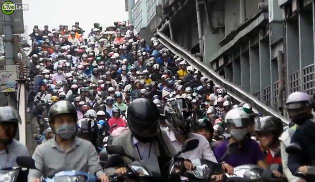 【ビデオ】驚愕! 台湾のスクーター渋滞がスゴすぎる!!