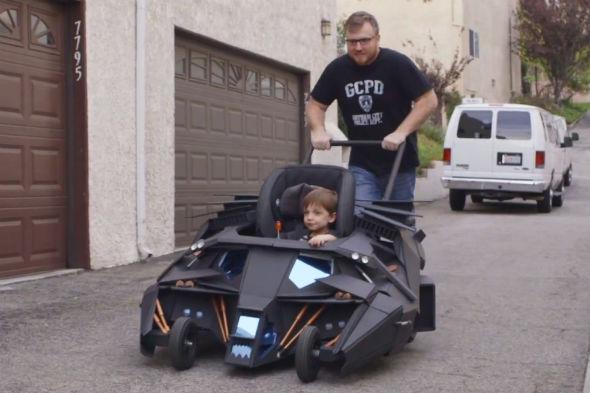 Batman-themed pushchair