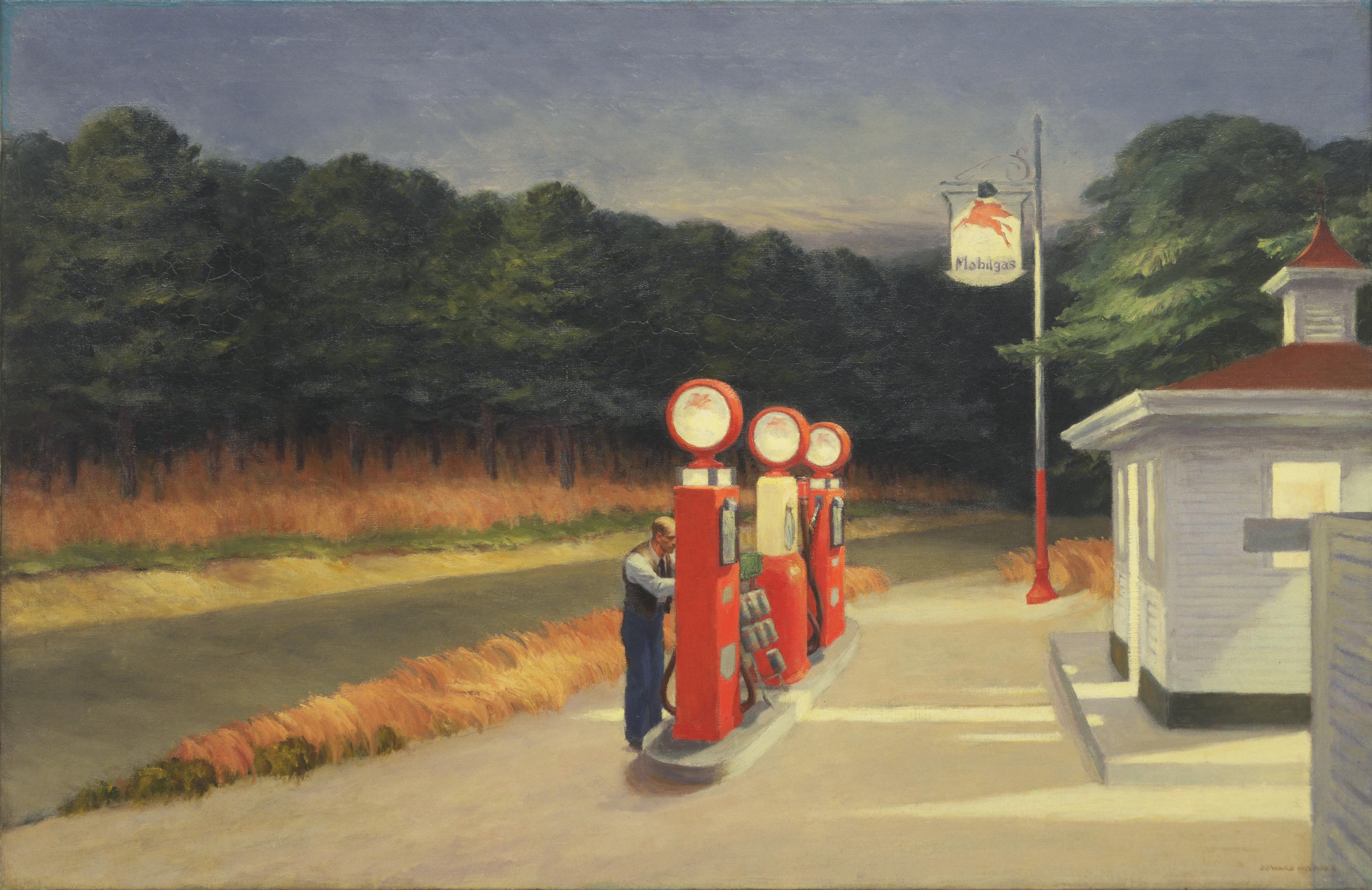 'Gas' (1940) by Edward Hopper (American,