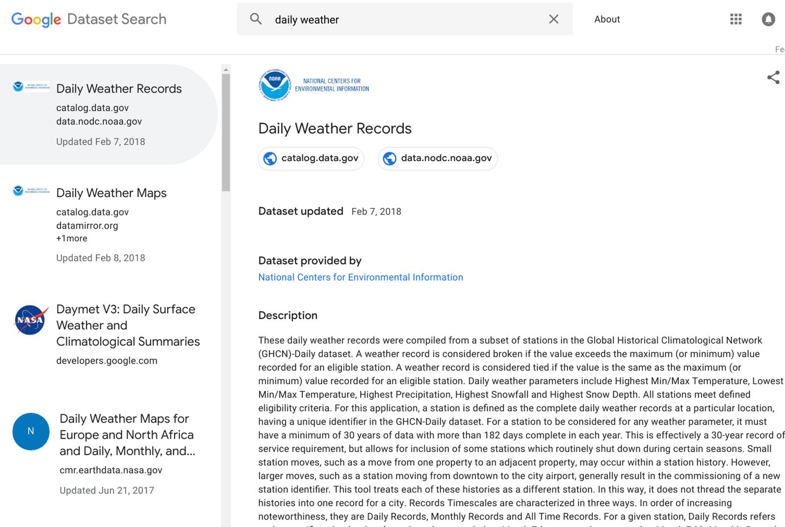 Google Dataset Search