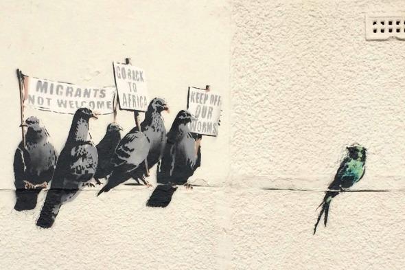 Banksy artwork in Clacton