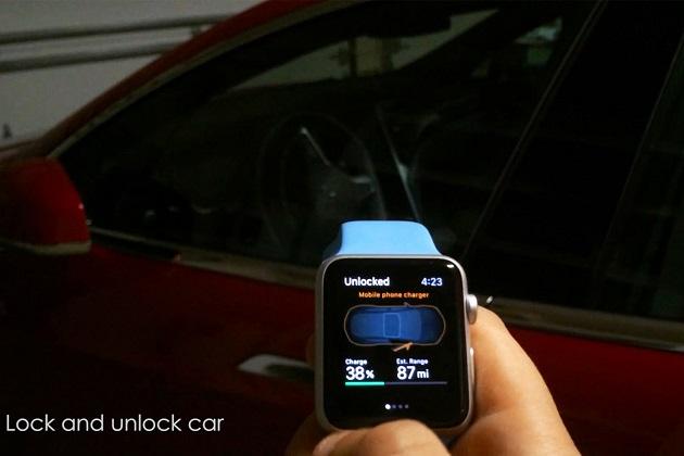 【ビデオ】テスラ「モデルS」をApple Watchから操作・管理するアプリのデモ映像