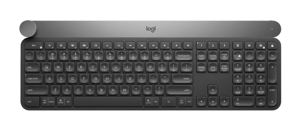 A Smart logitech craft keyboard has a 'smart' dial for creatives