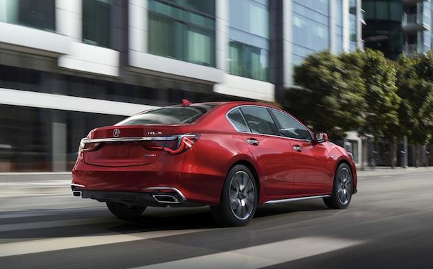 002 - 2018 Acura RLX Sport Hybrid in Brilliant Red Metallic