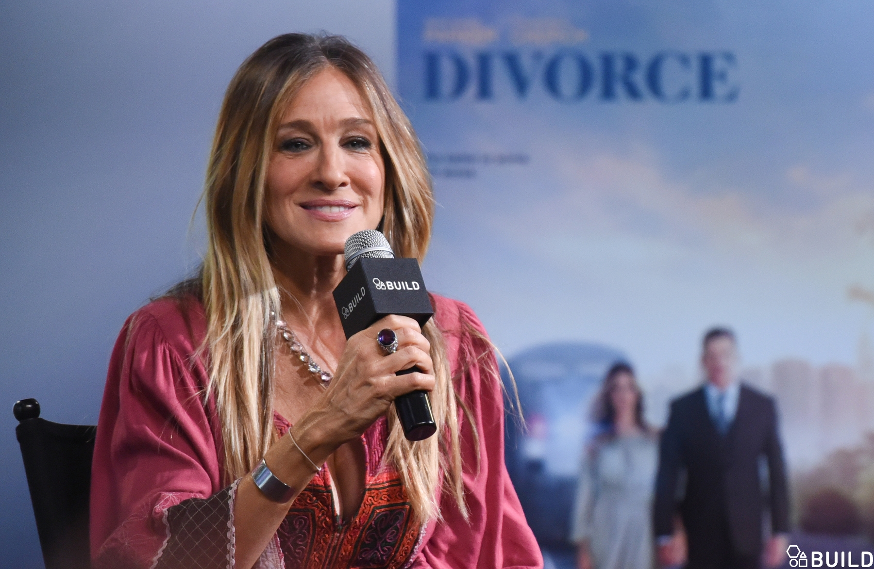 Sarah Jessica Parker visits AOL Hq for Build on October 6, 2016 in New York. Photos by Noam Galai