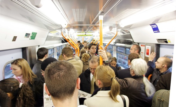 Train so crowded passengers 'travel in driver's cab'