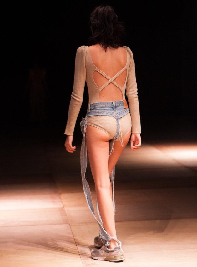 Les pantalons n'ont pas de panneaux avant ou