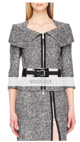 The Michael Kors outfit, currently sold out on Neiman Marcus's online shop after the first lady wore the outfit to the 2015 State of the Union address.