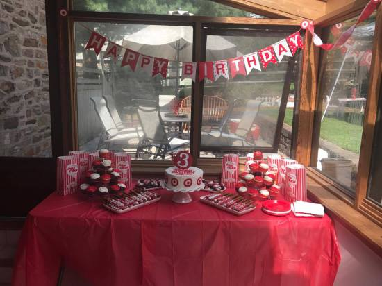 3 Year Old Gets Target Themed Birthday Party