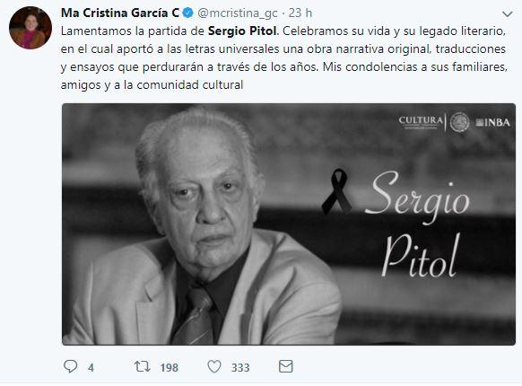 Todo el cariño y la admiración para despedir a un grande, el escritor Sergio