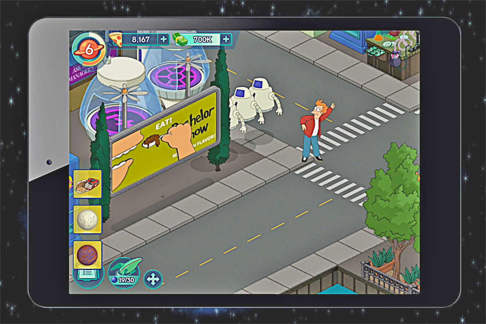 The Futurama crew returns today in a new mobile game