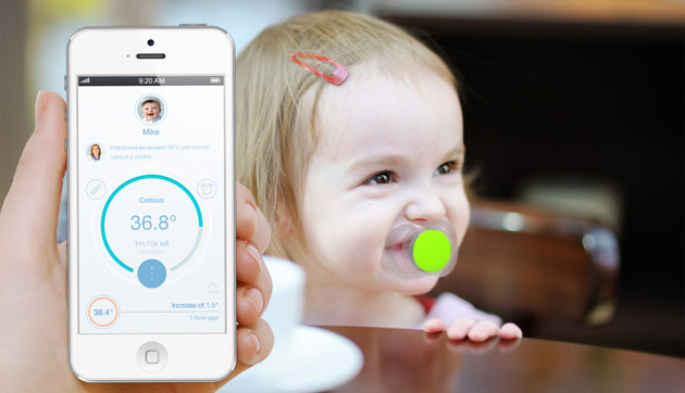 Pacif-i Smart Thermometer Is A Pacifier That Takes Your Baby's Temperature