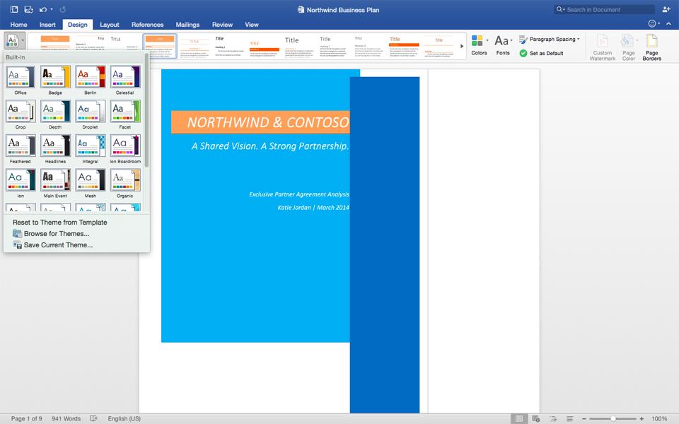 Office for Mac 2016 正式版推出,总算追上了「现代化」的脚步