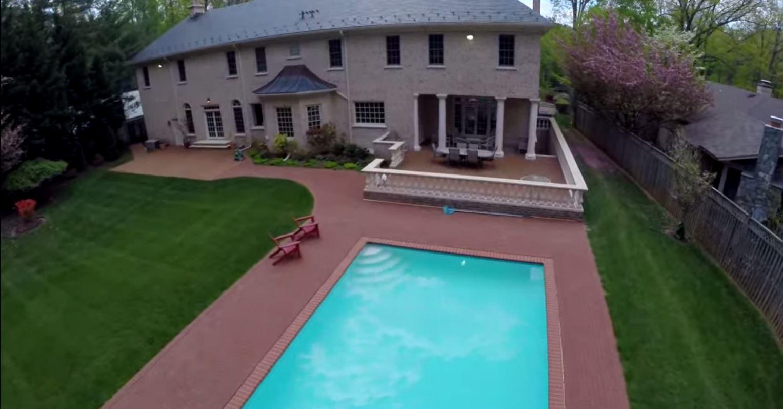 aerial view 6405 Bradley Blvd Bethesda MD
