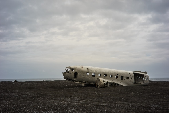 US Navy plane wreck sits on black Iceland beach 40 years after crash