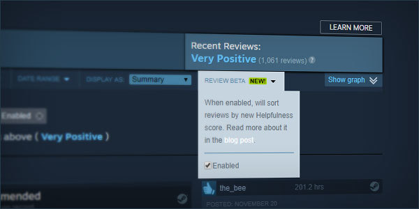 Valve Changes Steam Reviews to Stop Bots From Manipulating Pages