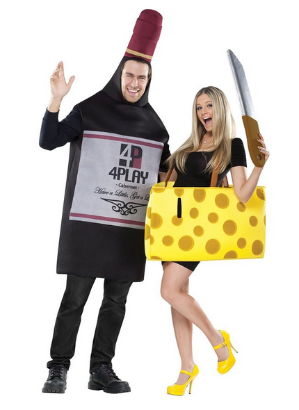 Wine and Cheese Halloween Couples Costume
