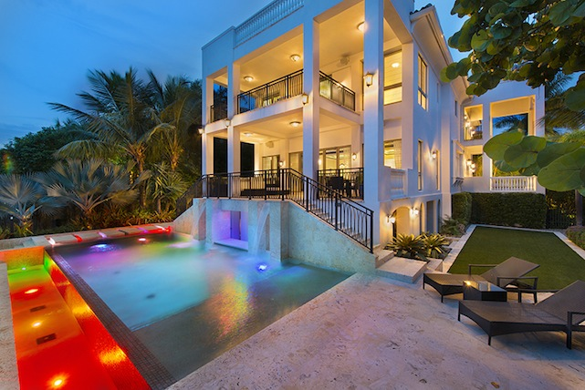 lebron james swimming pool miami