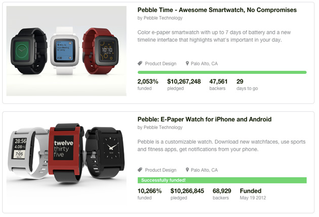 Pebble Time versus its predecessor