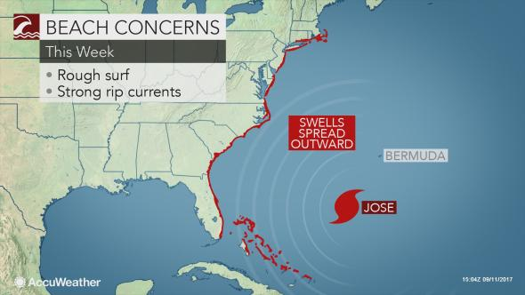 Regardless Of Jose S Exact Track There Will Be Concerns At Beaches Up And Down The East Coast As The Storm Churns Offs