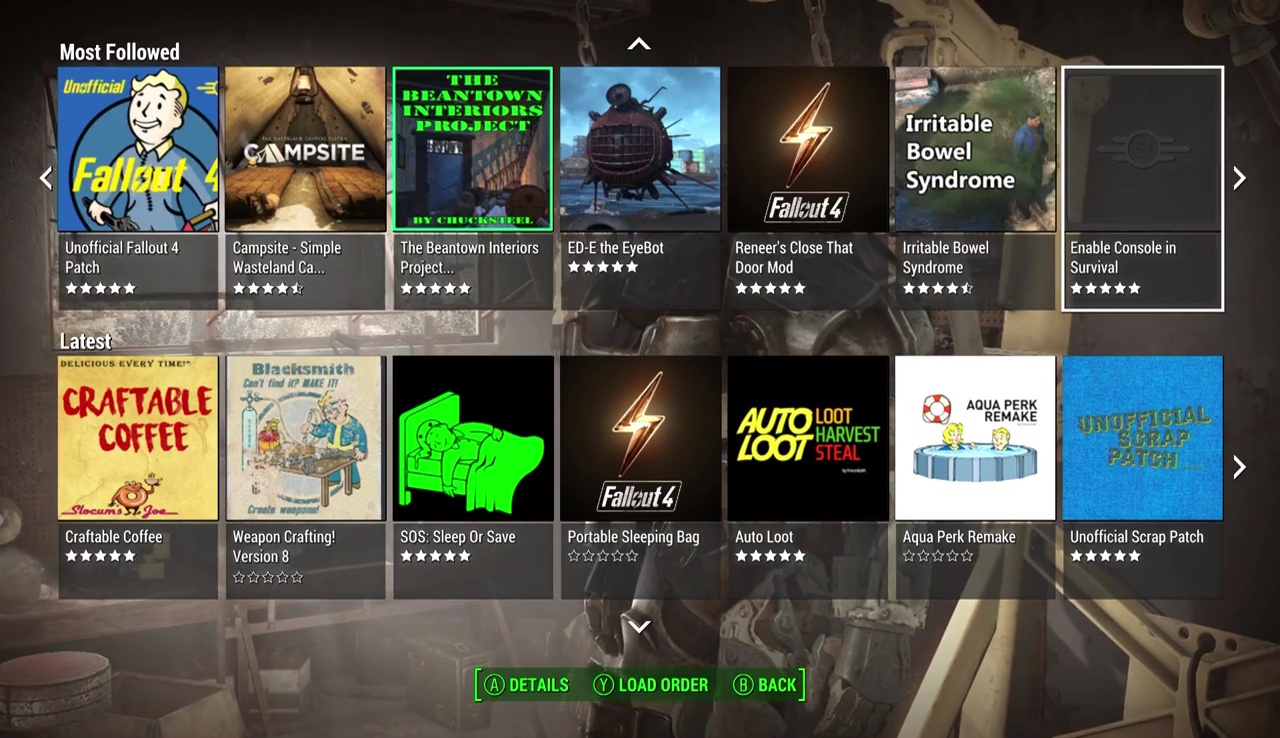 fallout 4 game of the year edition xbox one mods