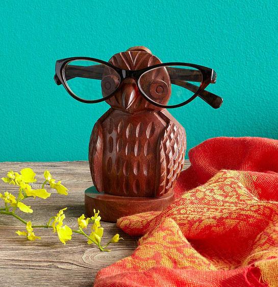 Owl eyeglasses holder uncommon goods