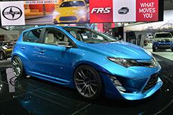 Scion IM concept at the 2014 LA Auto Show, front three-quarter view.