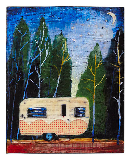 house under the stars camper art block