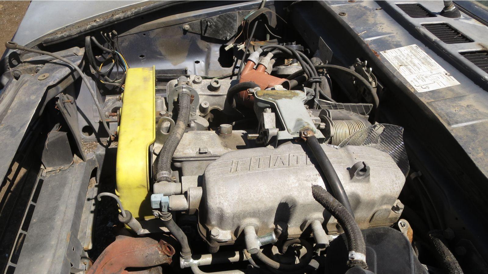 1980 Fiat 124 Sport Spider engine