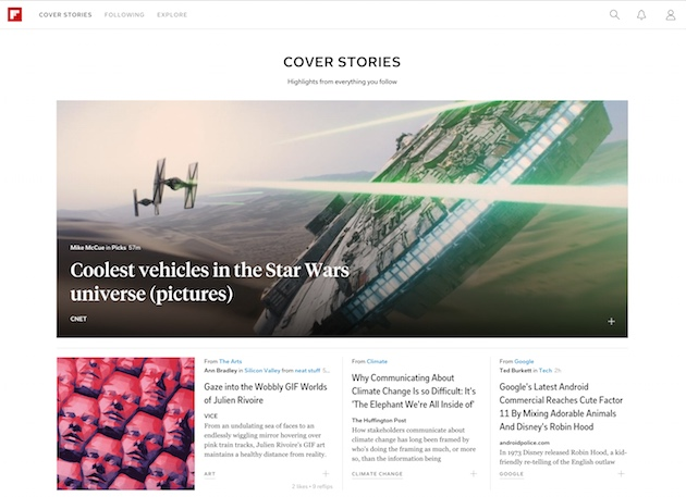 Flipboard Web Cover Stories