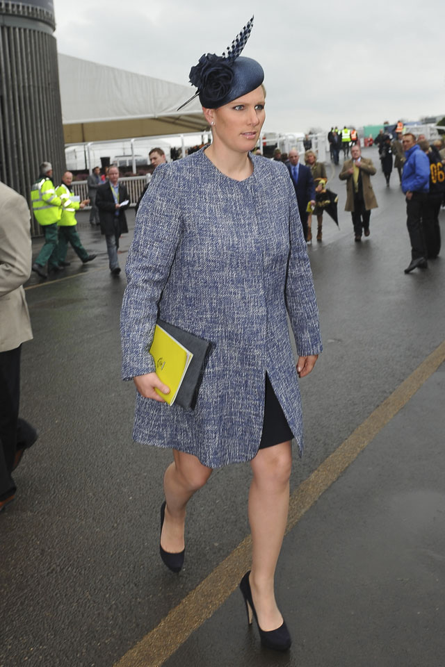 Zara Phillips arrives to Aintree for the Grand National 2014. <P> Pictured: Zara Phillips <P><B>Ref: SPL732804  050414  </B><BR/> Picture by: Craig Norwood / Splash News<BR/> </P><P> <B>Splash News and Pictures</B><BR/> Los Angeles: 310-821-2666<BR/> New York: 212-619-2666<BR/> London: 870-934-2666<BR/> photodesk@splashnews.com<BR/> </P>