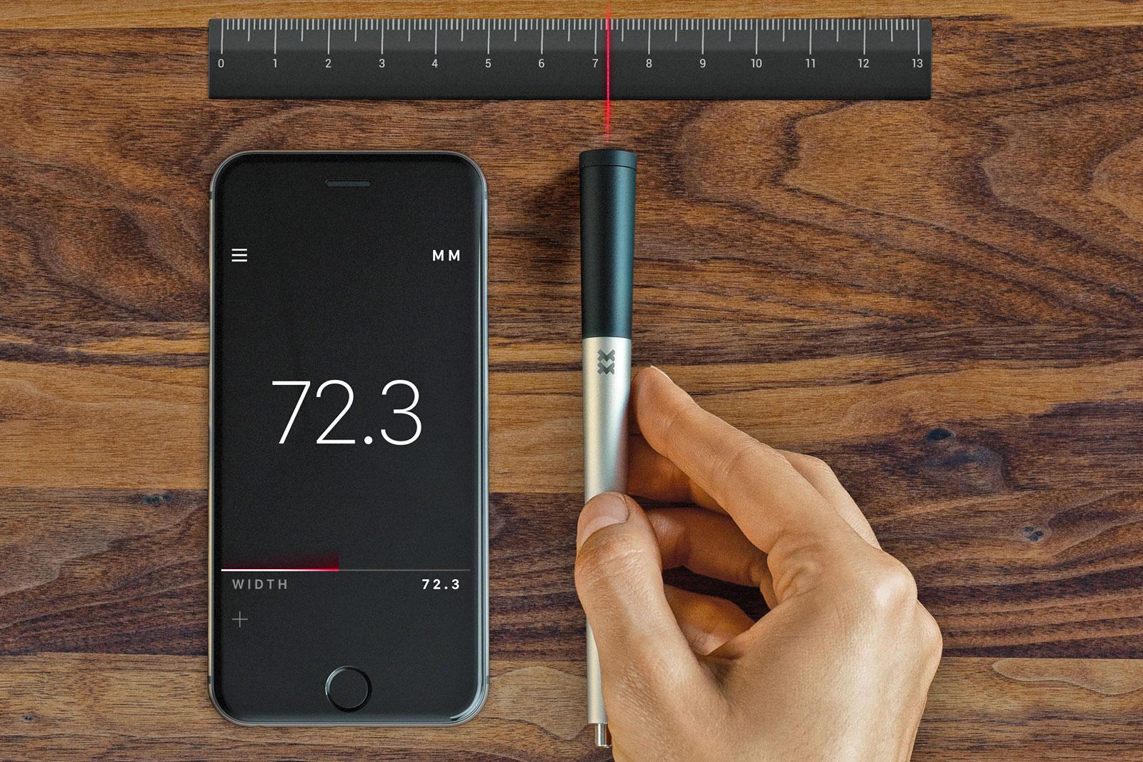 這支智慧筆幾乎能測量任何物體的尺寸