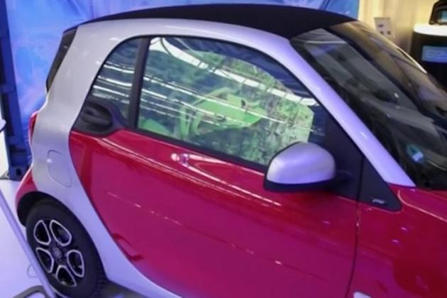 【ビデオ】クルマの窓ガラスを高精細ディスプレイに変身させる「スマート・グラス」