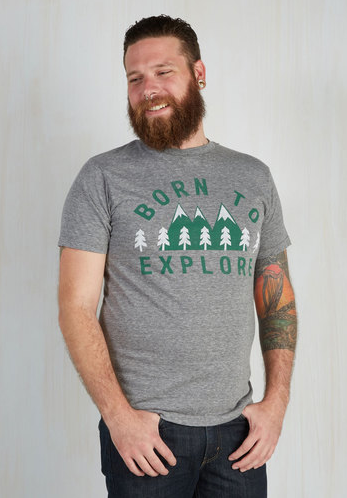 born to explore tee