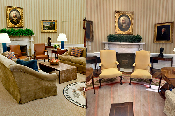 the oval office. credit gettyfacebook the wall decor of oval office