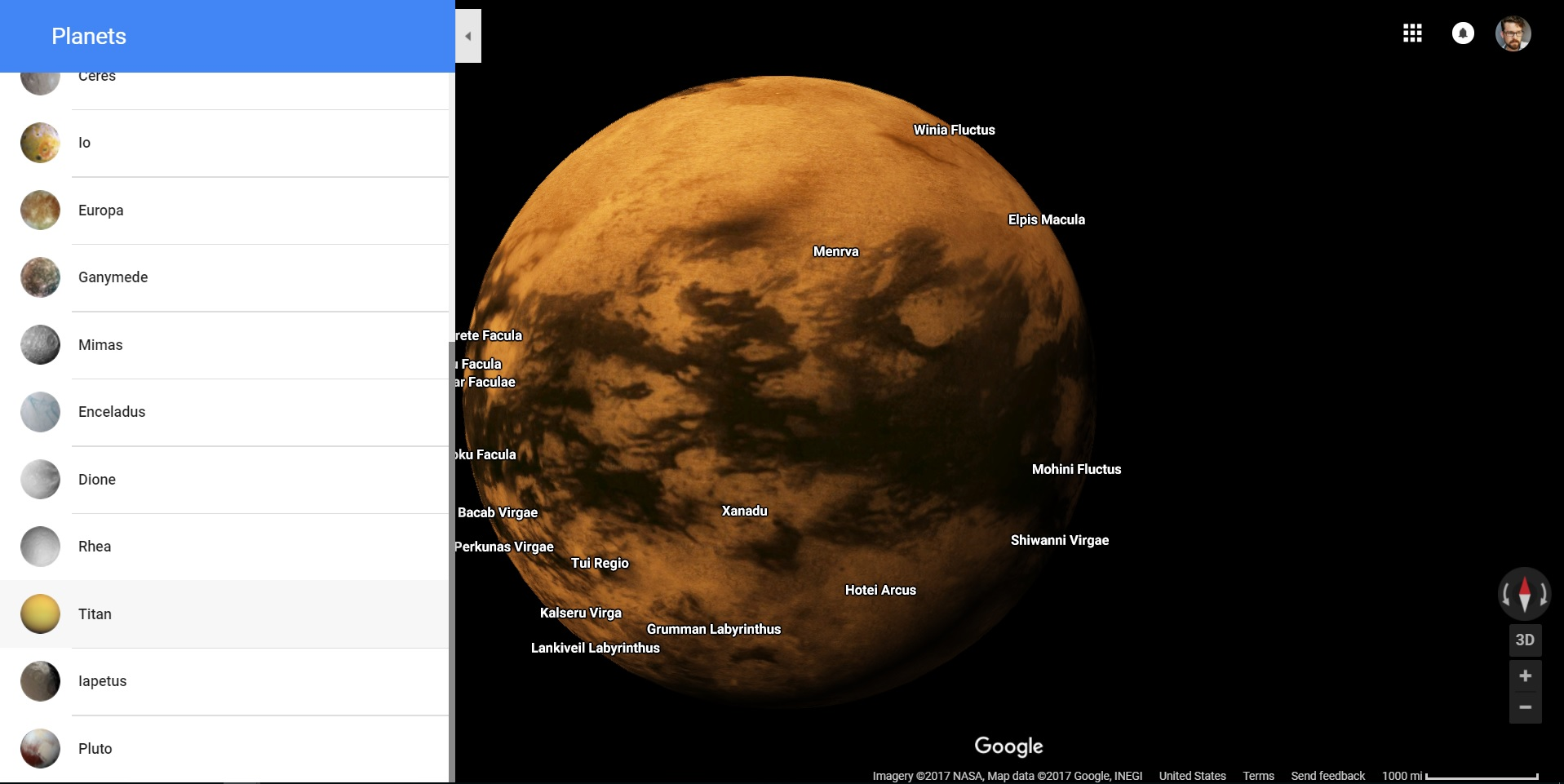 Explore (most of) the solar system in Google Maps on google states, google names of people, google body parts, google things, google sources of revenue, google feelings, google collections, google clip art, google polygons, google scenes, google word art, google monuments, google nature landscapes, google for women, google operators,