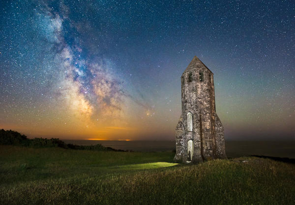 milky way over Isle of Wight