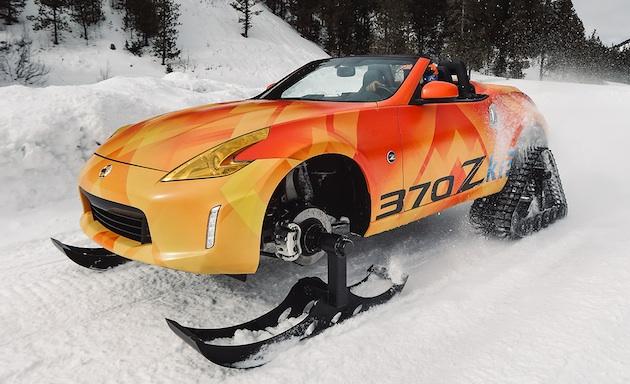 【ビデオ付き試乗記】日産が「フェアレディZ」をスノーモービールに改造した「370Zki」に乗る!