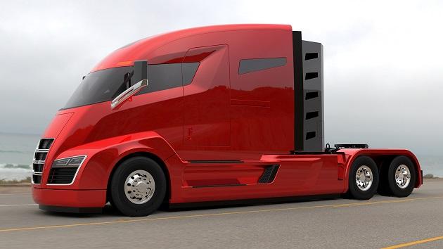 ニコラ・モーター、発売予定のセミトラックをハイブリッドから水素燃料電池に変更