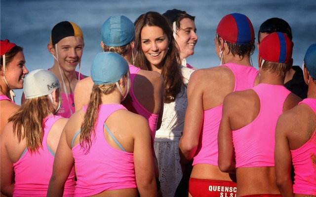 Kate Middleton and swimmers