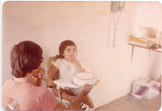 Jenn Carson de niña con su