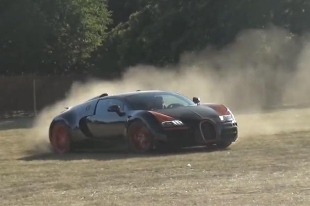 【ビデオ】ブガッティ「ヴェイロン・ヴィテッセ」が、ダートや芝の上を激走!