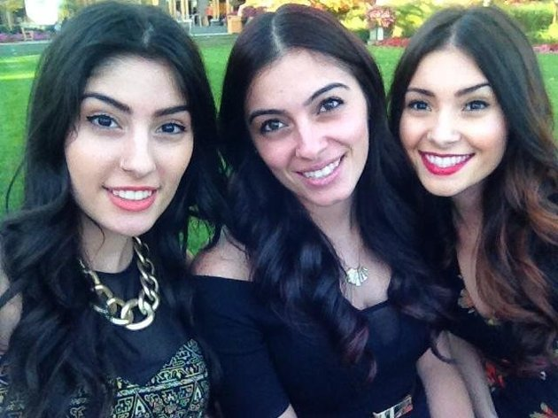De gauche à droite: Juliana, Jessica et